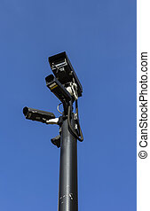 Group of high end security cameras - A group of high end...