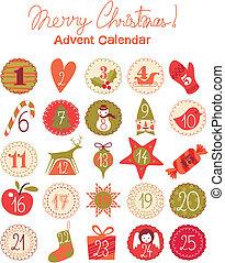 Advent Calendar - Advent calendar with various seasonal...