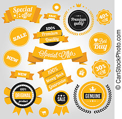 Vector Stickers Labels and Badges S