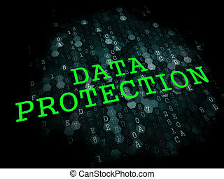Data Protection. Information Technology Concept. - Data...
