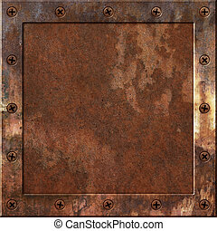 Rusty Metal Background - An Old Rusty Metal Background with...