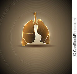 Lungs. Abstract medical wallpaper. Brigt and bold design.