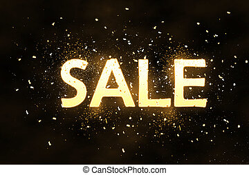 Abstract sale background - Abstract sparkling sale word...
