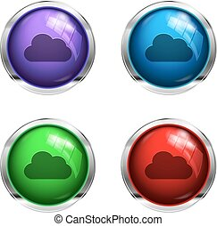Glossy cloud buttons