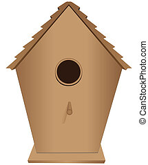 Birdhouse - Houses for birds out of wood. Vector...