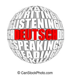deutsch - circle words on the ball on the topics