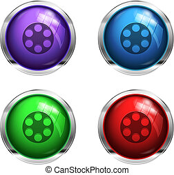 Glossy cinem buttons