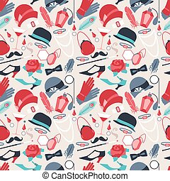 Retro of 1920s style seamless pattern
