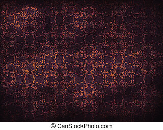 Grunge purple flower pattern background - Illustration of...