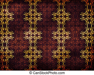 Retro flower pattern background