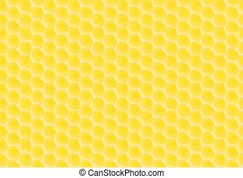 golden honey combs pattern - seamless golden honey combs...