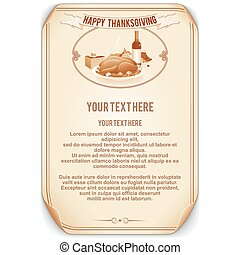 Retro Style Thanksgiving Background