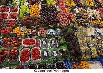 食物,  -,  barcelona's, 有名, スペイン, 市場