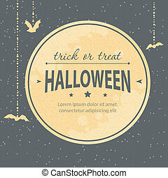 Halloween invitation - Vector illustration of Halloween...