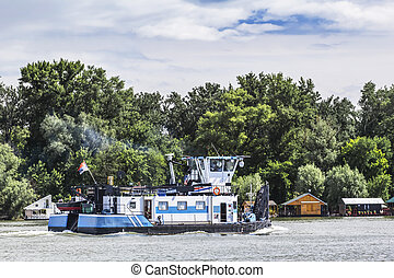 Towboat On Sava River - Belgrade - Serbia