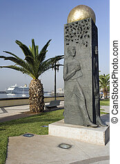 Funchal - Madeira - Monument on the waterfront in Funchal on...