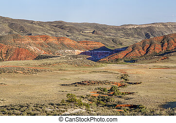 Red Mountain arroyo - arroyo and rugged terrain in Red...