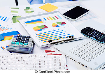 Office stationery objects Finance and accounting business