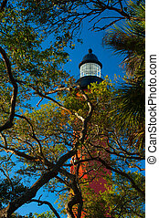 Ponce de Leon Inlet Lighthouse and Museum - Low angle view...