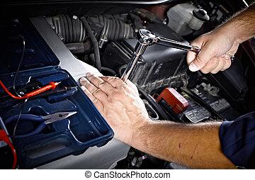 Auto mechanic. - Auto mechanic working in garage. Repair...