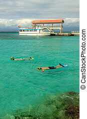 Relaxing off Ponce Puerto Rico - Coffin Island in Ponce,...