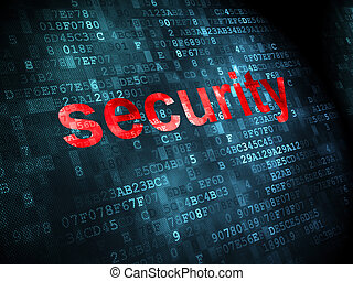 Protection concept: Security on digital background