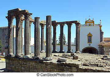 Roman temple, Evora, Portugal
