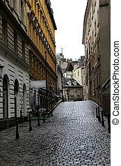 Old town street in Vienna, Austria