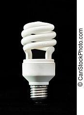 The spiral shape of  light bulb.