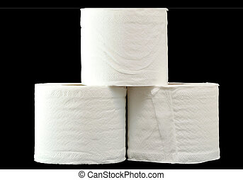 The stack of roll tissue.