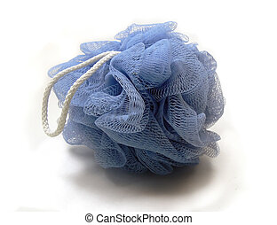 Blue Mesh Loofah - Isolated Mesh Loofah