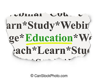 Education concept: Education on Paper background