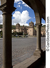 Cuzco - Peru - The Cathedral and Plaza del Armas in the city...
