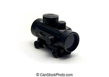 Red Dot Gun Sight - Isolated Red Dot Gun Sight