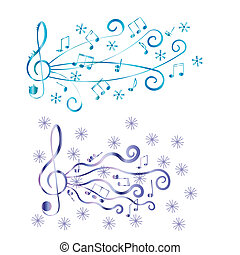 Treble clef for your design A vector illustration