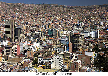 City of La Paz in Bolivia - The city of La Paz in Bolivia...
