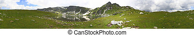 Panorama of Bulgarian mountains - Panorama of mountains and...