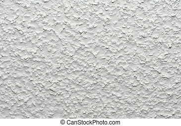 Popcorn Ceiling - White acoustic popcorn ceiling texture