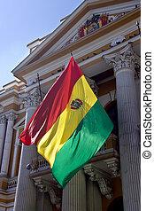 Flag of Bolivia - La Paz - Bolivia