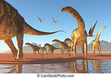 Argentinosaurus, manada