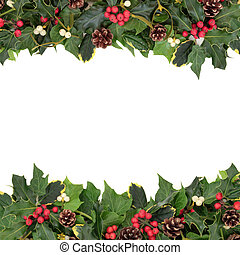 Christmas Floral Border - Christmas floral background border...