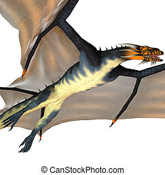 Blue Wasp Dragon Reign - A creature of myth and fantasy the...