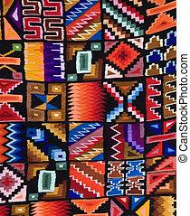 Peruvian Fabrics - Cuzco - Peru - Colourful Peruvian fabrics...