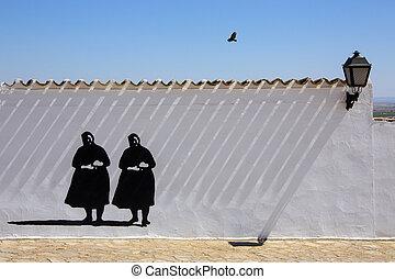 Wall in La Mancha - Spain - Wall in Campo de Criptana in the...