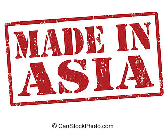 Made in Asia stamp - Made in Asia grunge rubber stamp,...