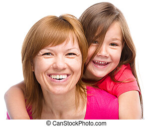Portrait of a happy mother with her daughter - Portrait of a...