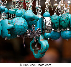 Turquoise Stone Pendants - Turquoise stone and silver...