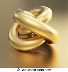 golden 3d torus object