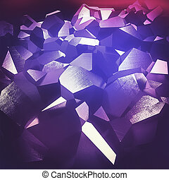 Purple crystals - Beautiful abstract purple crystals...
