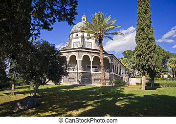 Mount of Beatitudes - Roman Catholic Franciscan chapel on...